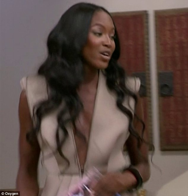 Living up to her reputation: Naomi Campbell locked horns with Karolina Kurkova on the premiere episode of The Face on Tuesday