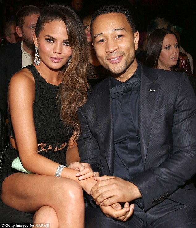 Happy couple: Miss Teigen and her husband-to-be John Legend will embark on their wedding menu tasting adventure on Chrissy Teigen's Hungry, premiering on Wednesday, February 13, at 10pm on the Cooking Channel