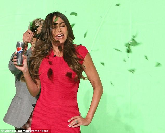 Pow! Ellen even 'broke' a bottle over Sofia's head
