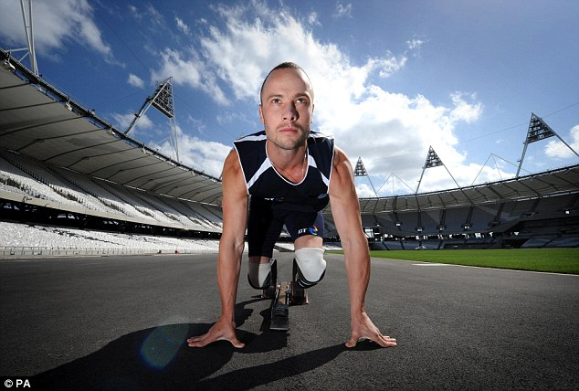 Poster boy: Pistorius was billed as one of the heroes of London 2012