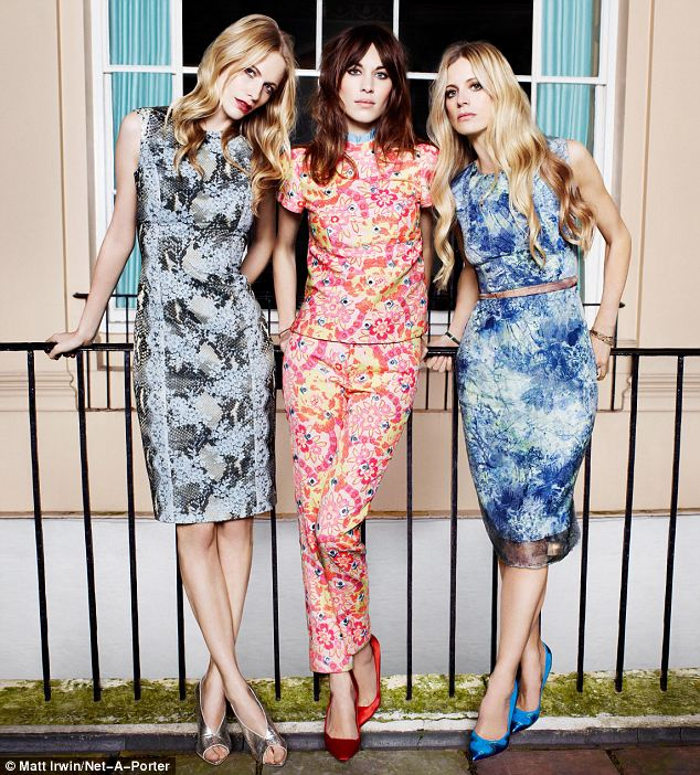 Poppy wears: Dress by Erdem; shoes by Burberry Prorsum. Alexa: Top and trousers by Erdem, shoes by Burberry Prorsum. Laura: Dress by Erdem; shoes by Nicholas Kirkwood - all from net-a-porter.com