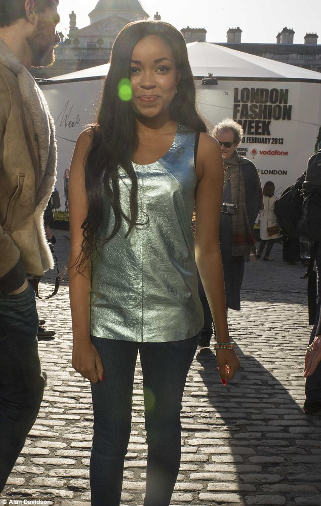 Bright: The sun was out at Somerset House for Dionne