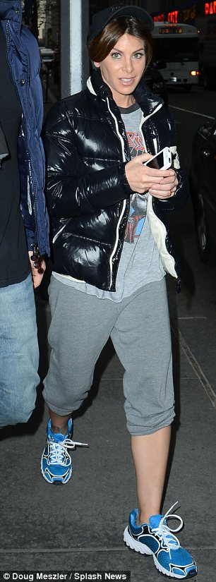 Promoting season 14: Jillian was seen leaving the NBC studios while dressed in a tracksuit on Wednesday