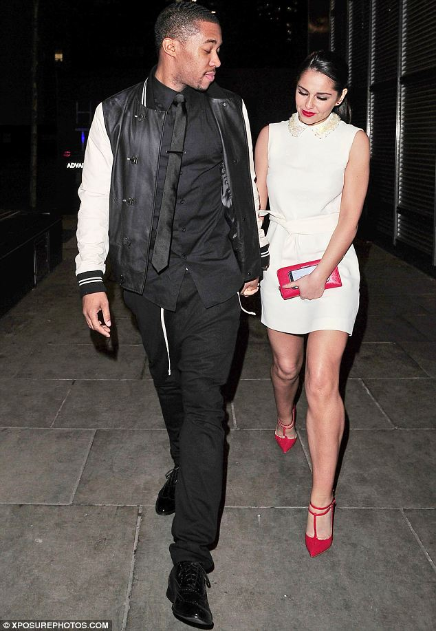 Attentive: Tre appeared to be keep looking back at Cheryl as they walked to check she was ok
