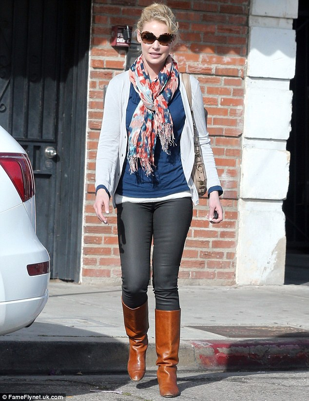 Back to her casual self: Katherine Heigl was spotted out to lunch with her mother Nancy on Friday wearing one of her typically dressed down outfits after putting on a stunning turn at Fashion Week