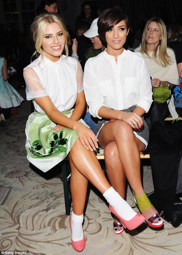 Quick wardrobe change: Mollie and Frankie changed their outfits and were see at the Moschino Cheap & Chic show later in the day