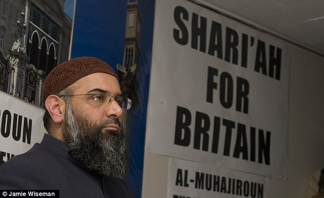 Extremist: Anjem Choudary wants the UK to become an Islamic state under sharia law