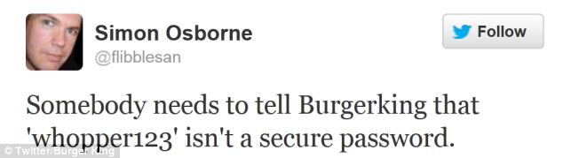 Twitter users posted their thoughts on the hacking as the Burger King hacker continued to post from the account