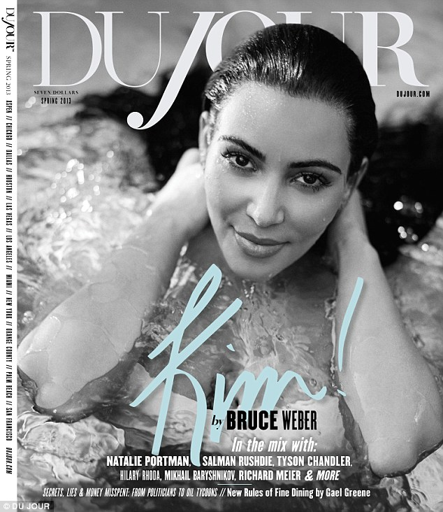 Splashing around: Kim reveals she has had an easy pregnancy so far with no morning sickness or cravings