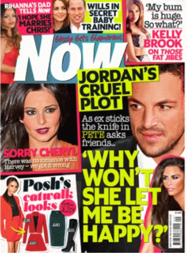 Sorry Cheryl: Now magazine printed the apology to the Girls Aloud singer in this week's edition