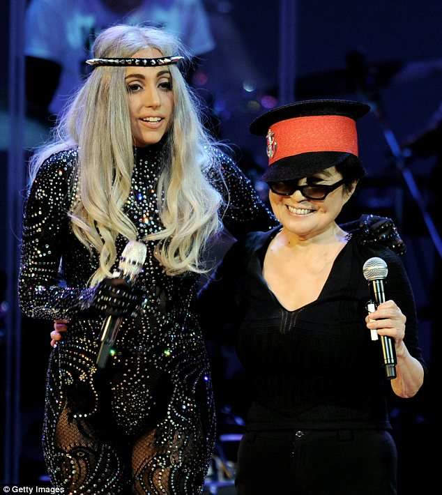 Influence: Lady Gaga has emulated Yoko's work in her quest for social justice and anti-bullying