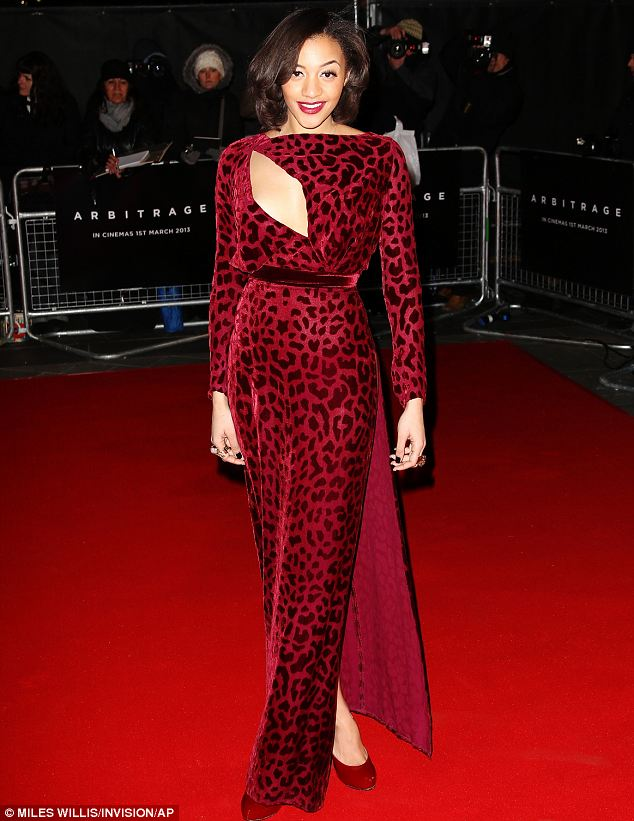 Wild thing: Amal made sure her lipstick and shoes matched her leopard print dress