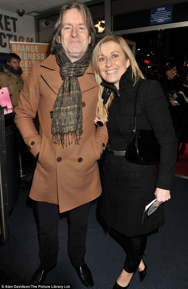 Date night: Fiona Phillips and her husband, Martin Frizell attended the premiere