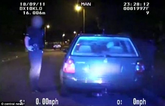 oi muzzie your nicked Late night: Officers pulled the terrorists over as they drove to a takeaway just before midnight