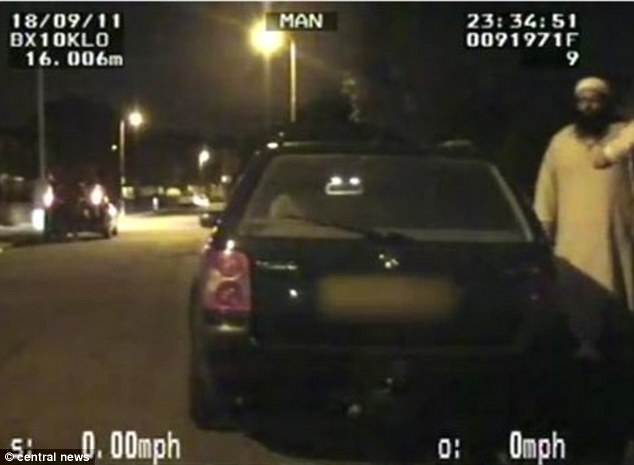 Capture: West Midlands Police arrested the three men in Birmingham after intercepting them in their VW as they drove through the city in September 2011