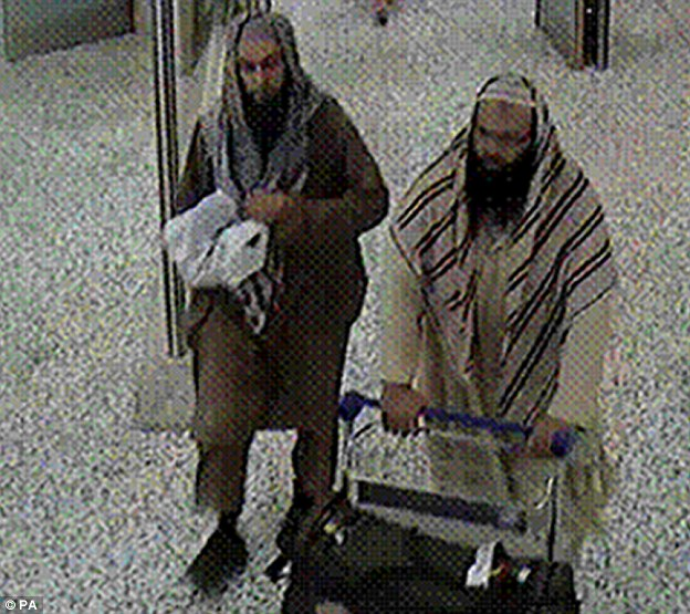Training camps: Khalid and Naseer were caught on CCTV going back and forth to Pakistan to receive instruction on plotting their attack on Britain