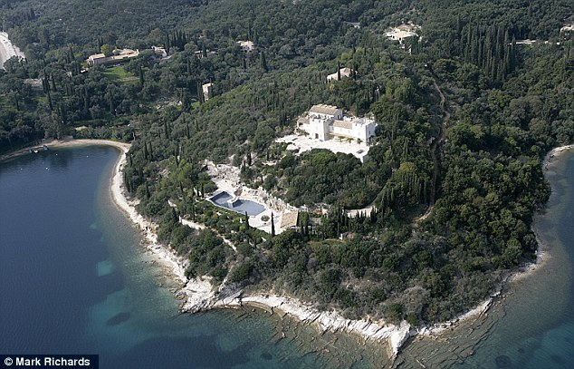 Getaway: The Rothschild family estate in Agios Stefanos on the Greek island of Corfu