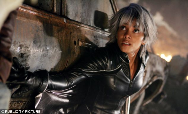 X-Men: Halle Berry, playing the character Storm in the popular film series, who is able to use her powers to manipulate the weather