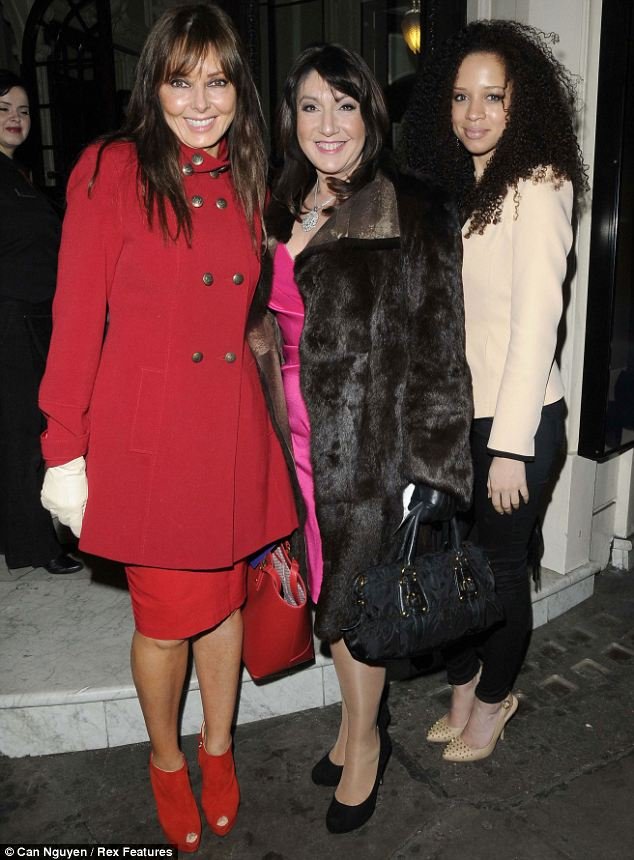 Carol Vorderman Overdoes It On The Red Accessories For