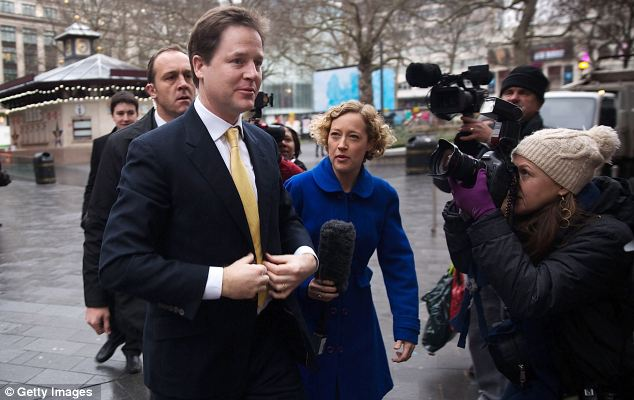 Mr Clegg has been trailled by reporters since the scandal broke