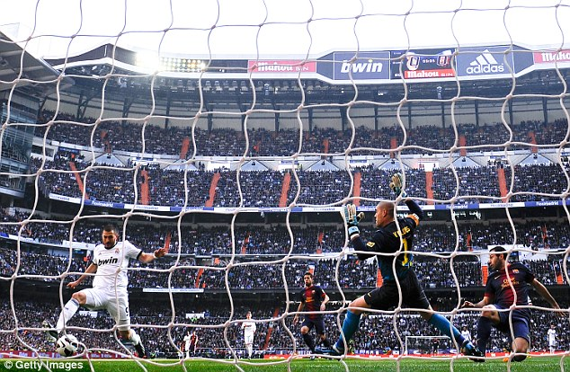 Opener: Karim Benzema scored after five minutes to give Real the lead, to the delight of the packed Bernabeu crowd