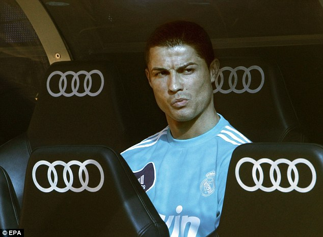 Benched! Ronaldo started the match among the substitutes, but came on with half an hour to play to great effect