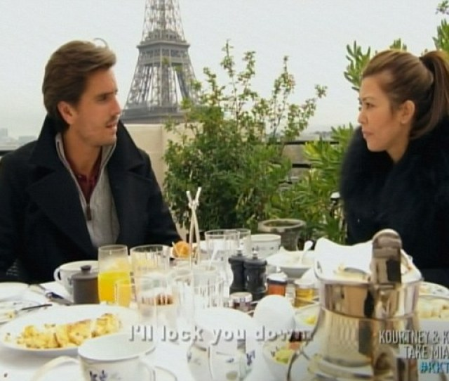 Petit Dejeuner The Pair Shared A Couples Breakfast Within View Of The Eiffel Tower