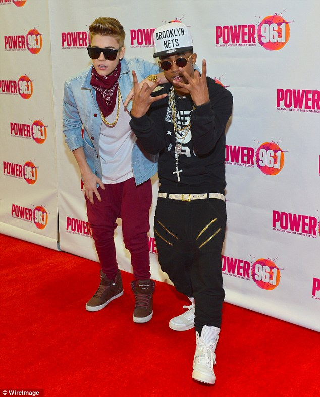Pressure: Bieber is increasingly under the sway of new Hollywood companions led by little known rappers Lil Twist (right) and Lil Za
