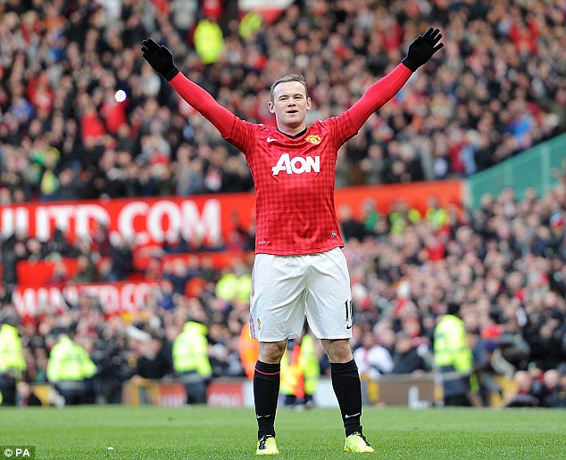 Answering his critics: It didn't take Wayne Rooney long to set the seal on United's victory