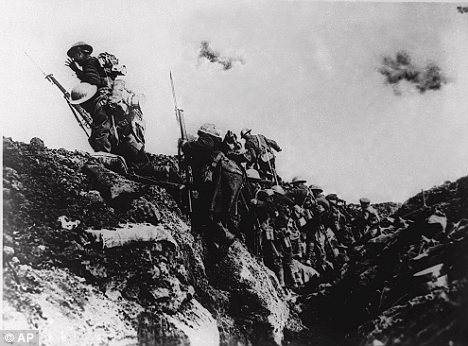 Over the top: By the end of the war, three empires had vanished and ten million soldiers were dead, the continent ruined and exhausted with the way clear for the Nazis to come to power in Germany