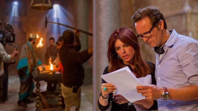 Swarm of snakes: Producer Mark Burnett and his wife Roma Downey behind the scenes on The Bible where they believe 'the hand of God' was at work