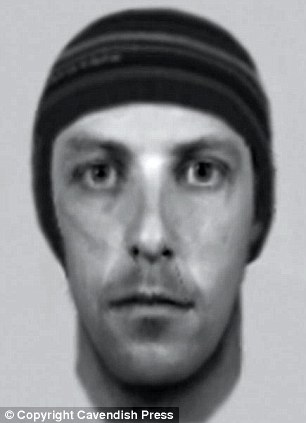 A police e-fit of the knife-wielding man