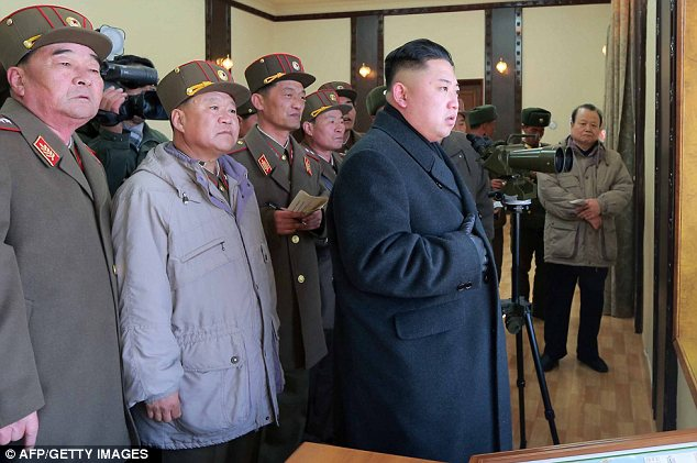 Rhetoric: Kim has issued a series of chilling threats since the imposition of fresh UN sanctions
