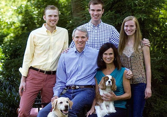 Senator Portman and his family