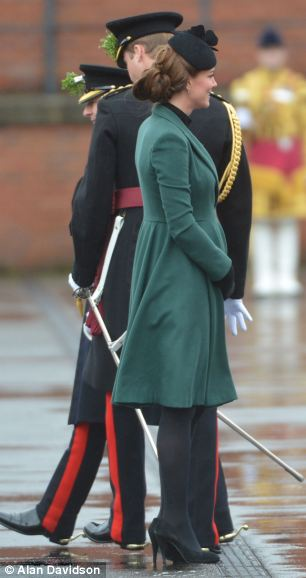 Emerald: Kate recycled her appropriate green coat that she wore to last year's event