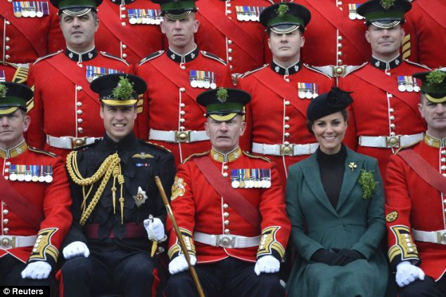 Tradition: Prince William attended the Parade as Colonel of the Regiment,