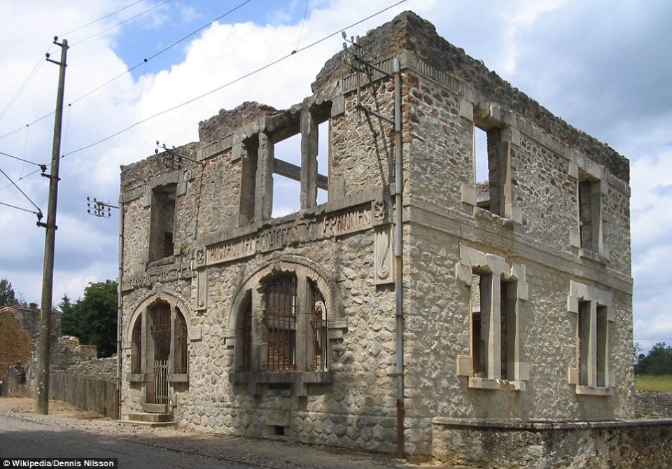 Oradour-sur-Glane, France: The original village was destroyed on 10 June 1944, when 642 of its inhabitants, including women and children, were massacred by a German Waffen-SS company