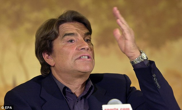Dispute: Mr Tapie, the former head of Adidas in France, claims he was cheated out of millions by Credit Lyonnais bank. miss Lagarde ended the dispute by asking a panel of judges to arbitrate