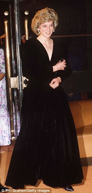 The Princess Of Wales At The Barbican For A Performance Of Lles Miserables in 1985