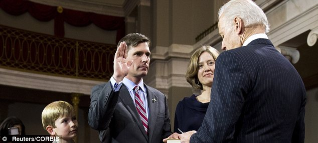 Democratic N.M. Sen. Martin Heinrich took his oath of office in 2013. He co-founded a green group with an eco-extremist