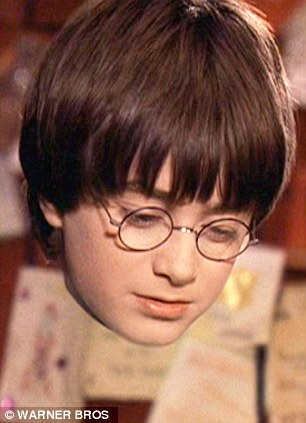 Fiction: Harry Potter tries on an invisibility cloak in The Sorcerer's Stone