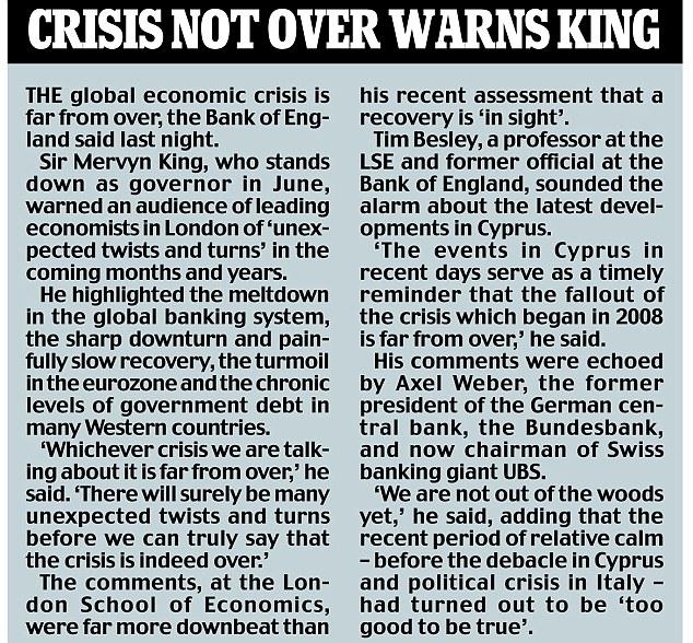 CRISIS NOT OVER WARNS KING.jpg