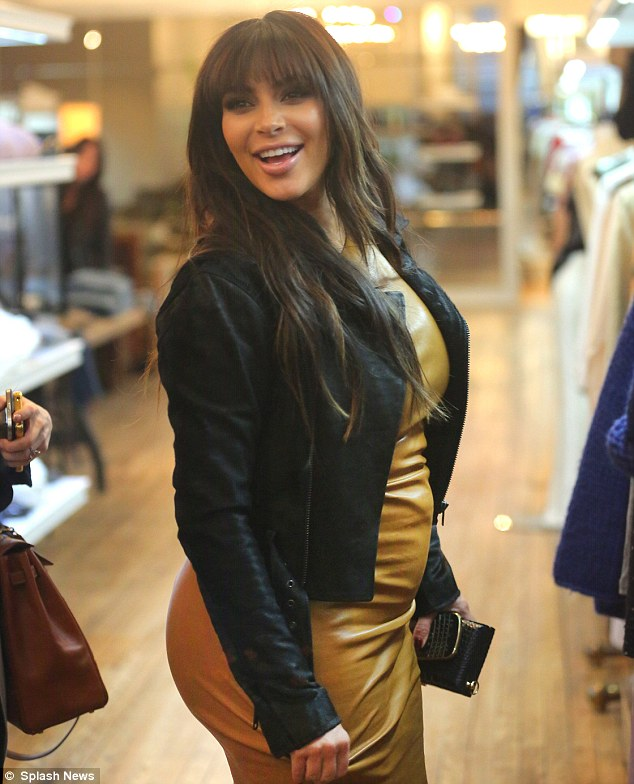 Defying the critics: In the face of critics who have conceded that the star has piled on the pounds throughout her pregnancy, Kim went to great pains to show that she can still pull off her usual racy attire