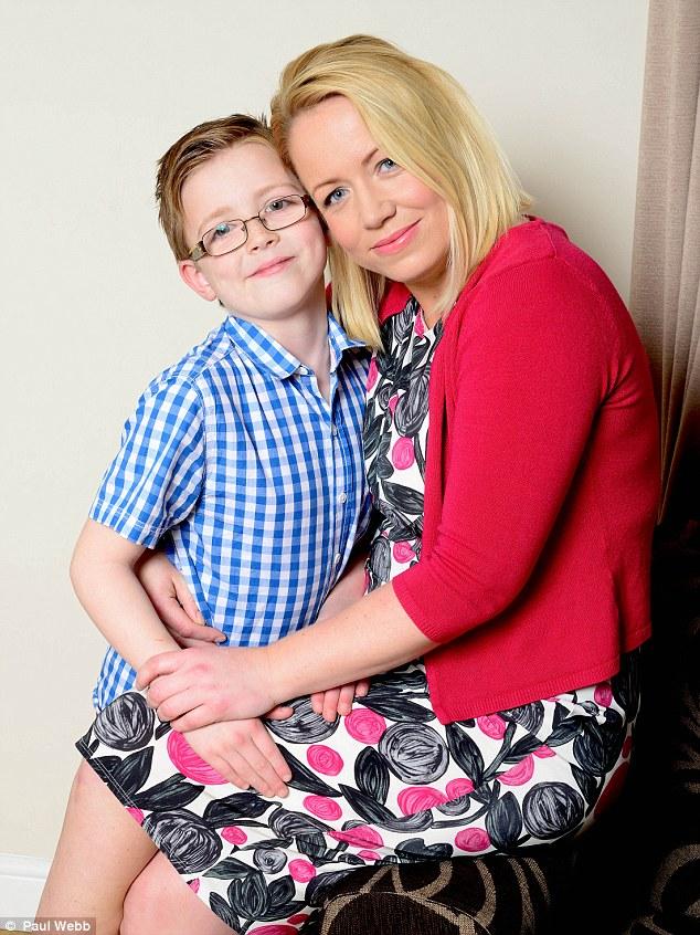 Uncertain future: Lucio, now eight, and mum Karen