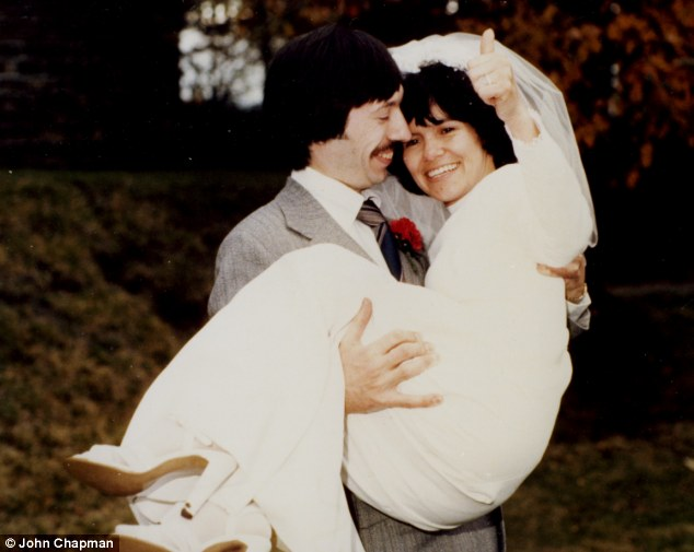 Carried home: Marina and John Chapman on their wedding day in 1978