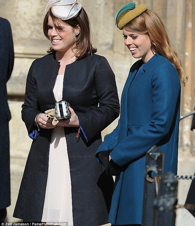Princess Eugenie and Princess Beatrice looked elegant for the Easter service in hats and high heels