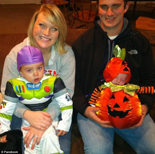 Medical: Doctors told Knights, pictured left, to abort because the fetus was growing in her right uterus which was extremely weak