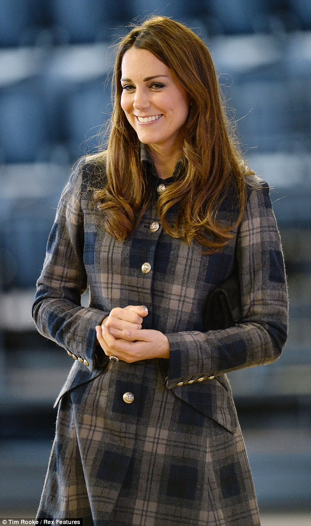 Blooming: The Duchess of Cambridge was glowing as she arrived at the Emirates Arena in Glasgow today
