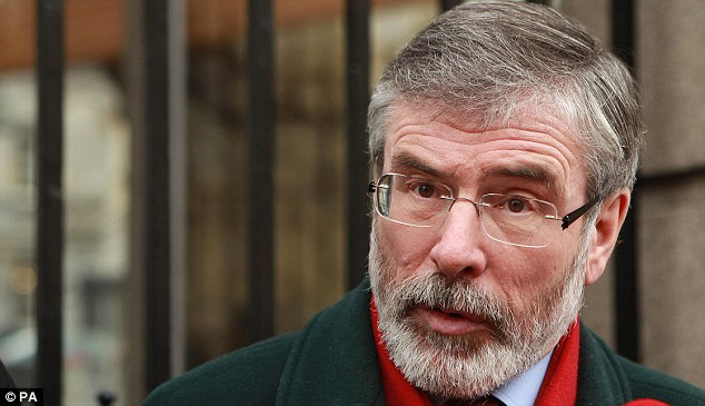 A clear message: Sinn Fein leader Gerry Adams, representing himself as a democratic politician, was interviewed stating that Lady Thatcher had inflicted 'great hurt' on Northern Ireland