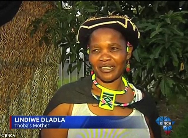 Lindiwe Dladla, Thoba's mother, says she is very happy that the two have tied the knot